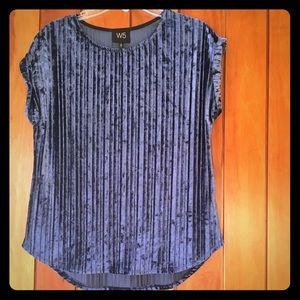 W5 Anthropologie Velour Shirt Med